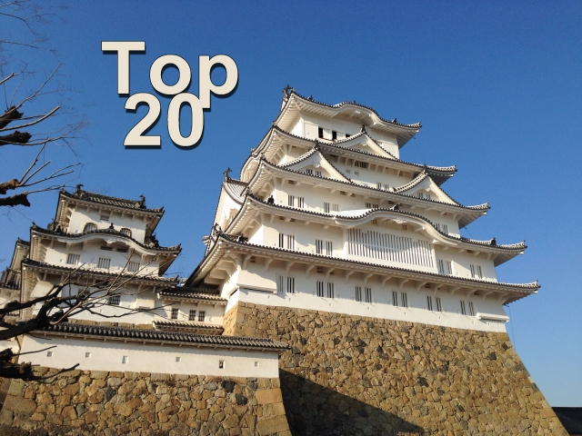 Top 20 most popular castles in Japan revealed for 2016