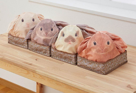 Cute Japanese bunny bags store your items and keep you company at the same time!