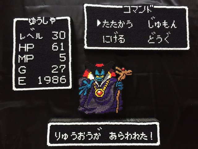 Japanese gamer recreates battle screen from Dragon Quest – using 15,000 cotton swabs
