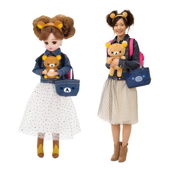 Licca-chan teams up with Rilakkuma for an un-bearably adorable collection