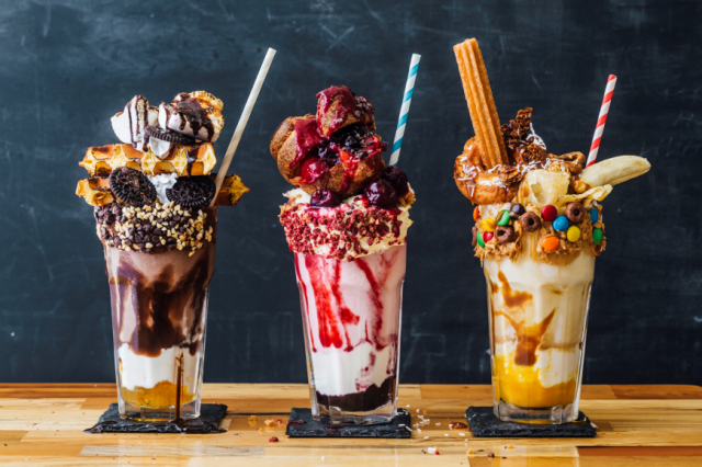 Tokyo restaurant's milkshakes are so huge they have donuts, churros in them
