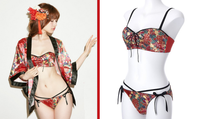 Japan's kimono-style bra and panties bring traditional motif to modern lingerie design【Photos】