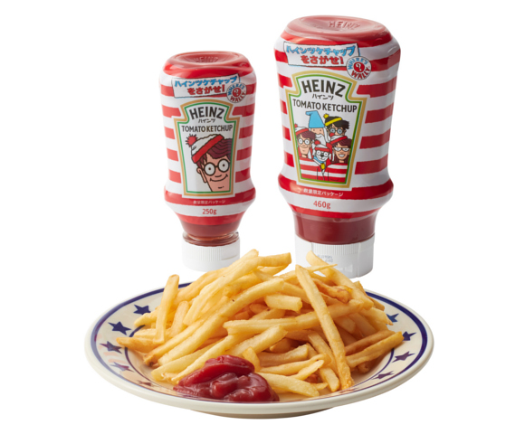 Where's Wally? In Japan, you'll find him on Heinz ketchup bottles!