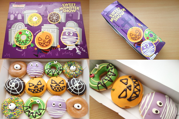 We try the new Krispy Kreme Halloween doughnuts before their official release!