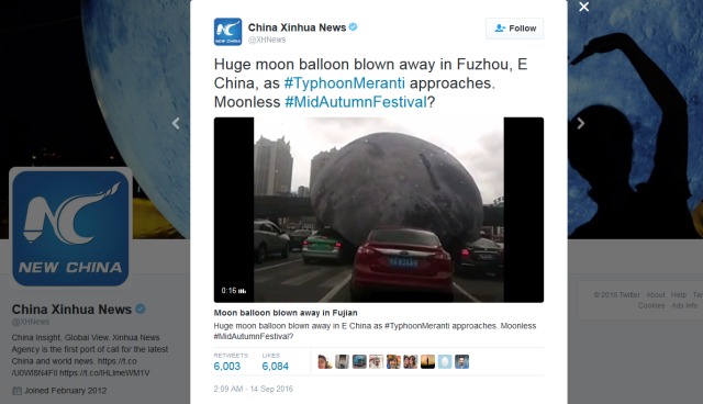 Real life Majora's Mask: Moon crashes in Chinese city, rolls over cars, people 【Video】