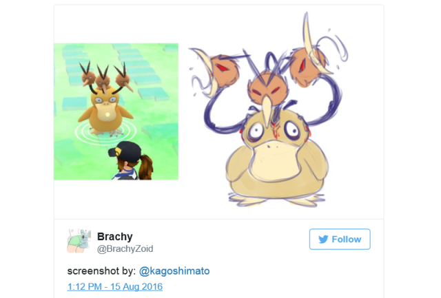Fan artist draws the terrifying hybrid monsters birthed by Pokémon GO's graphics glitches