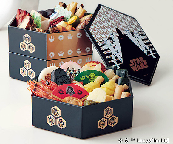Traditional Japanese cuisine meets Star Wars for New Year's osechi celebration meals