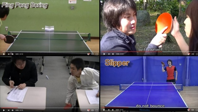 "This table tennis comedy video isn't ""boring."" It may be the best video ever!"
