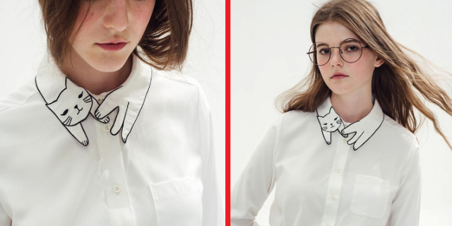 Cat collars blouse lets you always have a fashionable cat friend with you wherever you go 【Pics】