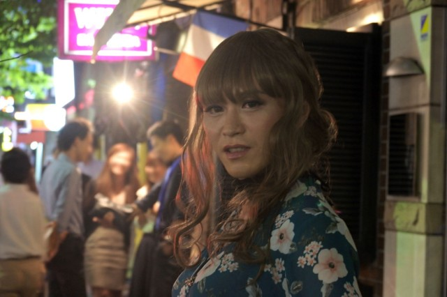 What happens when a guy throws on a wig and a dress and goes to Japan's #1 pick-up spot?