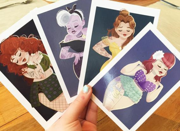 Fan artist's plus-size Disney Princesses (and villain) are practically perfect in every way【Pics】