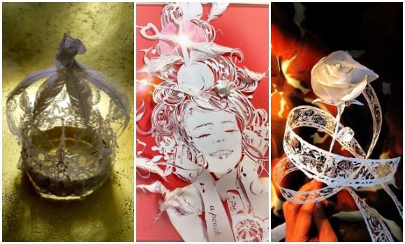 3-D paper-cutting artist shows off masterpieces made from single piece of paper【Pics】