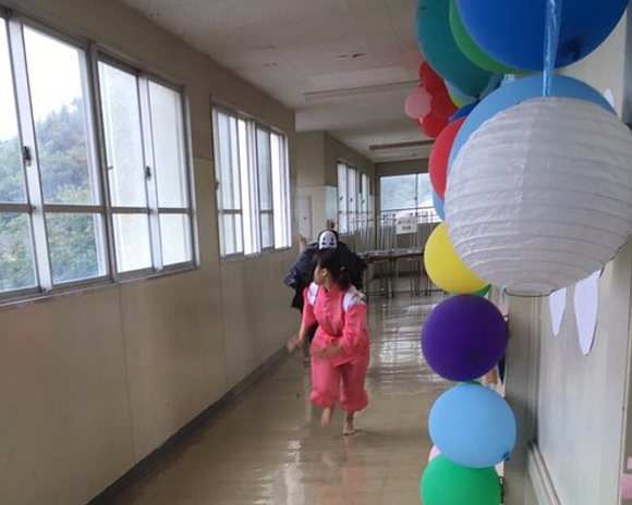 Students recreate scene from Spirited Away at Japanese school festival