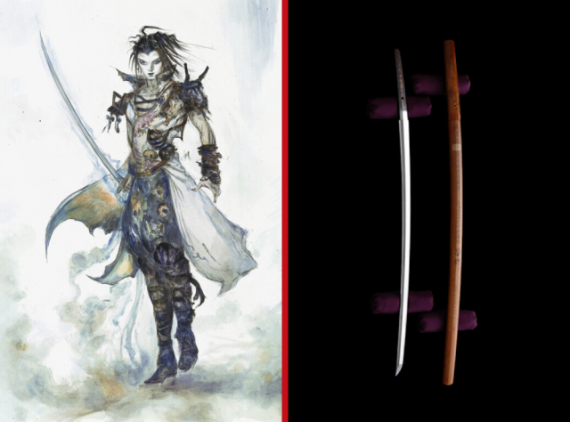 Final Fantasy artist Yoshitaka Amano anthropomorphizes katana made from a meteorite