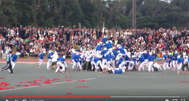 Botaoshi: The crazy, violent highlight of Japan's National Defense Academy open house【Video】