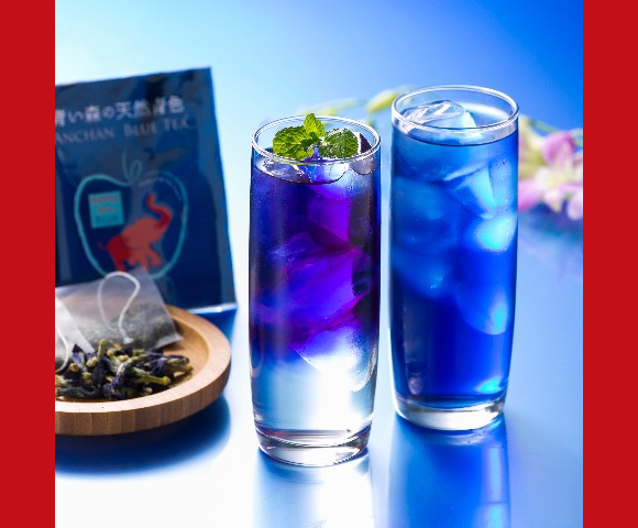Feeling cold and blue? Warm your body and soul with a cup of bright blue tea from Japan!
