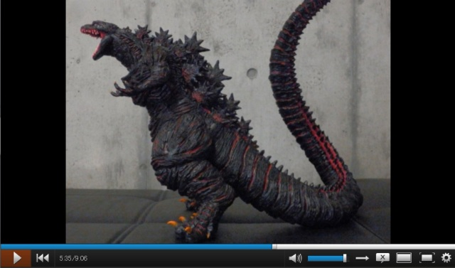 Video shows incredible process it took to create monstrous model of Godzilla from clay