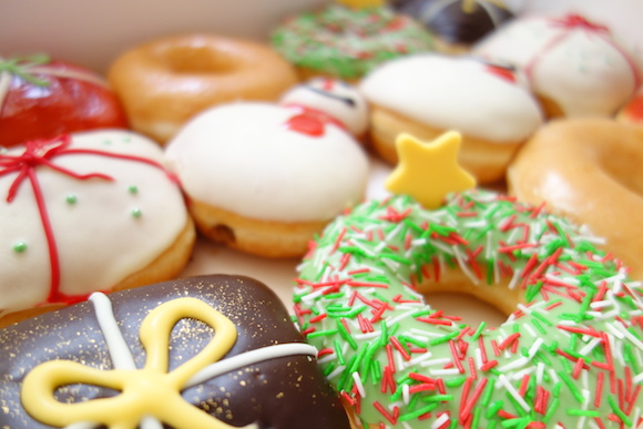 We try the new Christmas doughnut range from Krispy Kreme Japan before its release