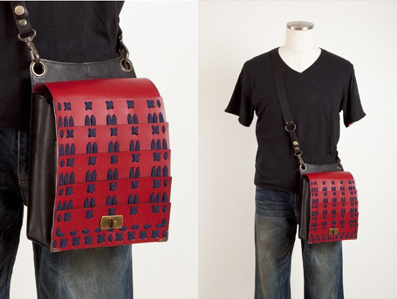 Add some warrior armour to your outfit with a samurai satchel from Japan