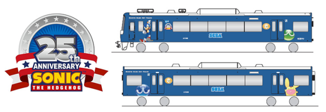 All aboard the Sega Train! Tokyo rail operator decorates carriages for Sonic's 25th anniversary