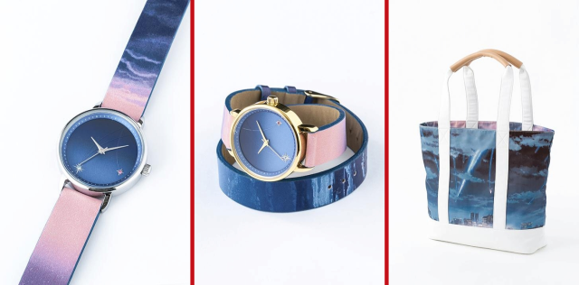 Hit anime Your Name inspires fashion line with gorgeous watches, bag, and umbrella 【Photos】