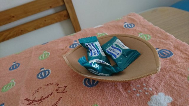 Japanese woman's husband accidentally finds a sweet new use for her bra pads 【Photos】