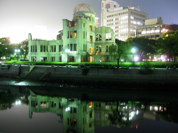 a-bomb_dome_at_night