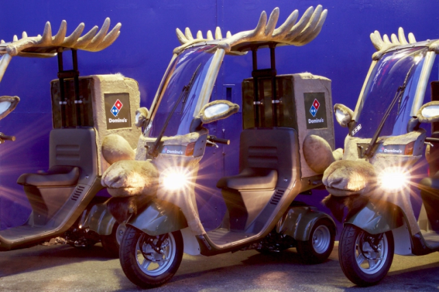 Domino's Pizza delivery bikes are cosplaying as adorable reindeer this Christmas in Japan
