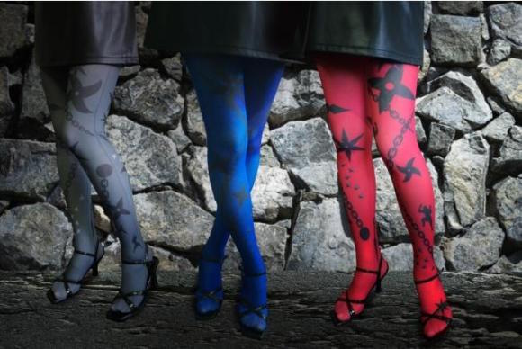 Decorate your legs with colorful ninja stockings that offer style over stealth!