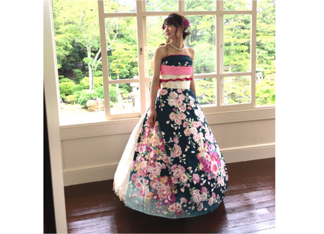 What's a furisode kimono without sleeves? An incredibly elegant wedding dress【Photos】