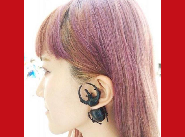 Unique and possibly creepy earrings by Taiwanese designers will make you look twice!