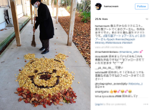 Beautiful works of leaf art appear around Japan as fall foliage viewing season ends