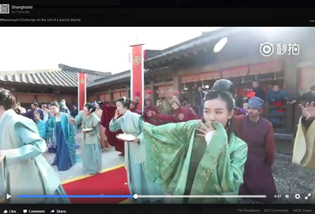 Chinese period drama mannequin challenge is worth stopping to take a look at 【Video】