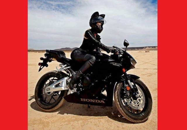 This cat ear motorcycle helmet makes for a purr-fect biker accessory