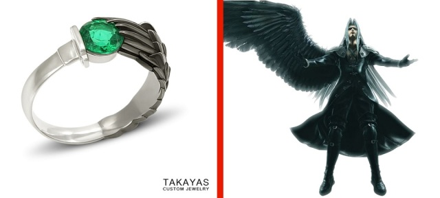 Sephiroth's One Winged Angel absolutely dazzles on the hand of one you've ringed