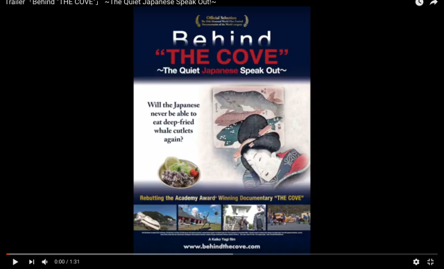 "Japanese film ""Behind THE COVE"" defends whaling and dolphin-hunting, screens in the U.S.【Video】"