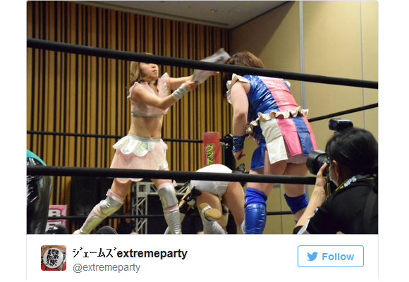 "Japanese female pro wrestler uses ""deadly weapon"" to subdue opponent: a thick marriage magazine"