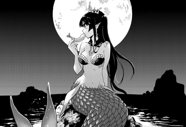 Gourmet manga takes beautiful mermaid and transforms her into semi-cannibalistic fish eater