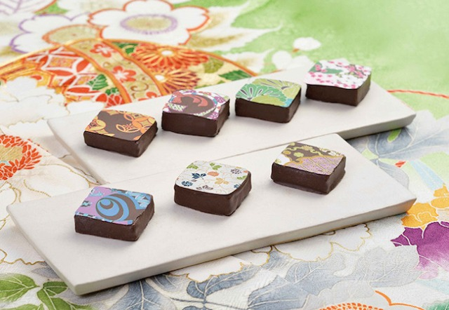 Traditional Japanese kimono patterns meet chocolate with stunning and sweet results