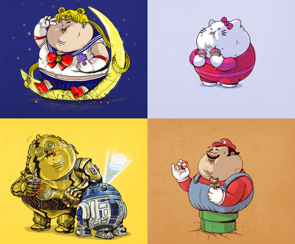 Famous Chunkies: Artist shows us what characters would look like if they overate
