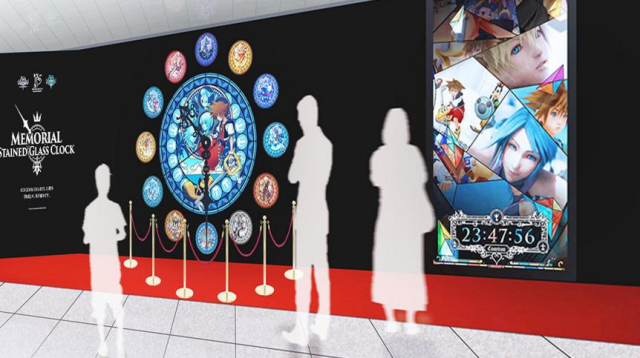 Gorgeous Kingdom Hearts stained glass clock installed in Tokyo for game series' 15th anniversary