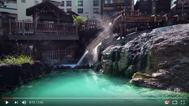Onsen town's 4K video has visitors lining up around the virtual block【Video】