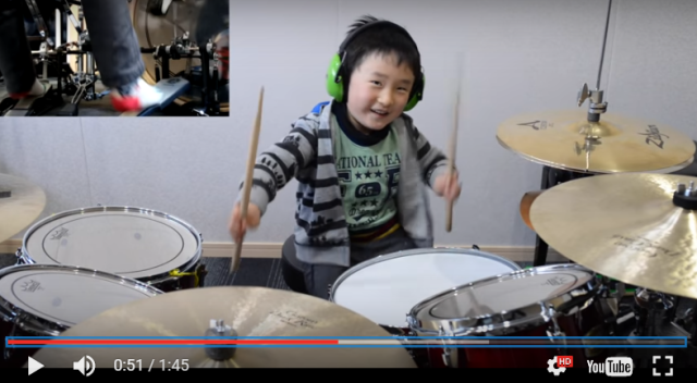 Four-year-old drummer is totally cute, kills in covers of X-Japan and PPAP【Videos】