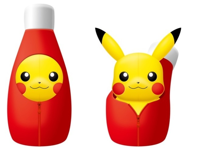 New Pikachu plushie cozies up inside ketchup bottle, looks so cute that we could eat him right up