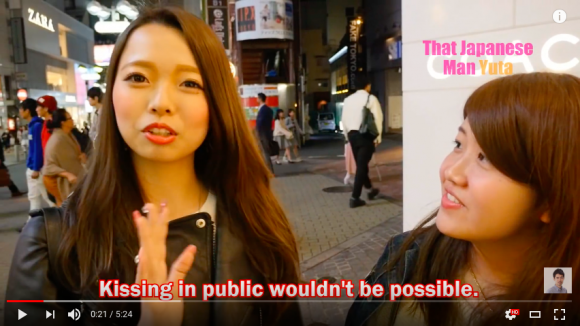 Do Japanese people kiss in Public? 【Interview】