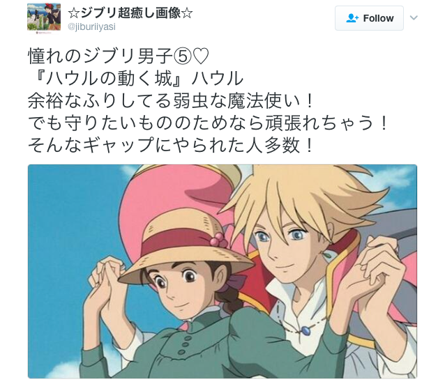 Female anime fans reveal the Studio Ghibli character they most want to date in real life