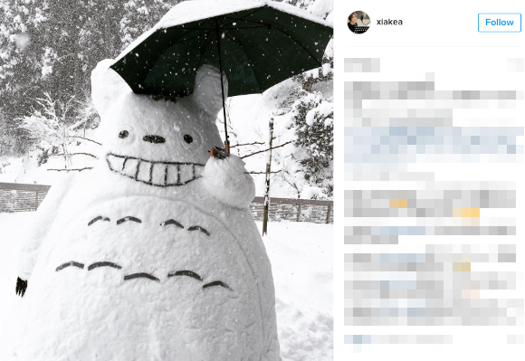 Amazingly creative sculptures appear on streets around the country as heavy snowfall hits Japan