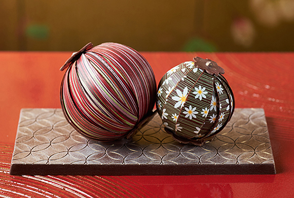 Japanese temari woven balls appear as limited-edition chocolates for Valentine's Day
