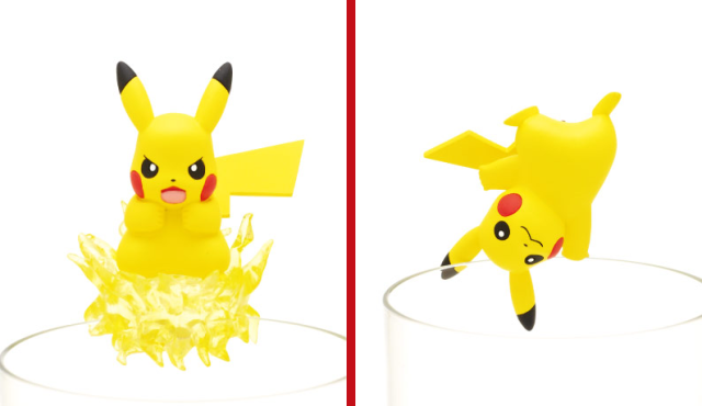 Awesomely adorable Pikachu cup clinger figures add some Poké-appeal to your beverages