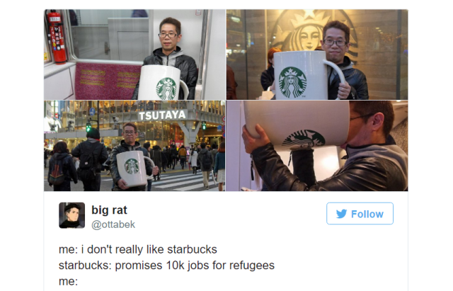 The true story behind the giant coffee mug/Starbucks' refugee plan Internet meme